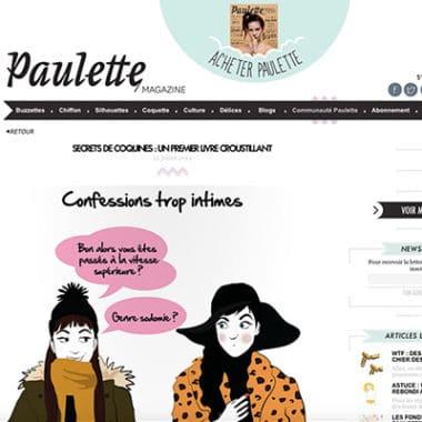 Article Paulette Magazine Livre Secrets de coquines